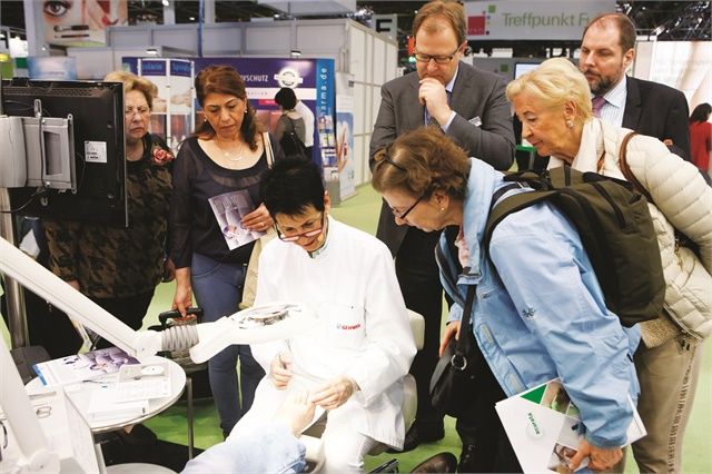 At Beauty Düsseldorf, foot care has its own hall where exhibitors such as Gehwol demonstrate their products.