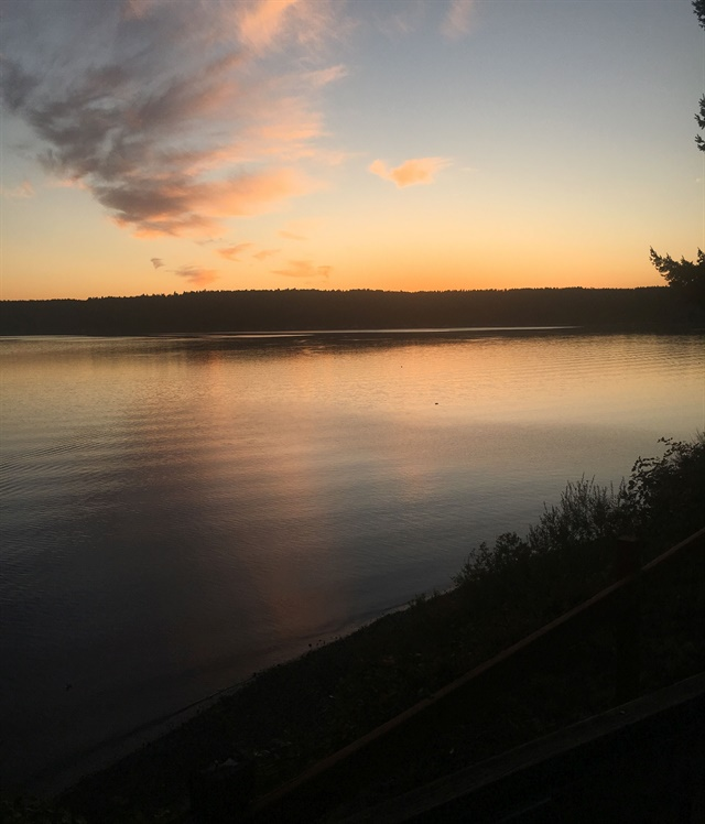<p>Sunset at Nail Camp</p>