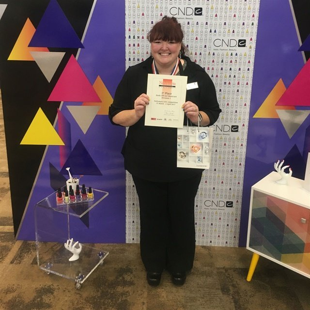 <p>Winning first-place in gel-polish at Nailympia.</p>