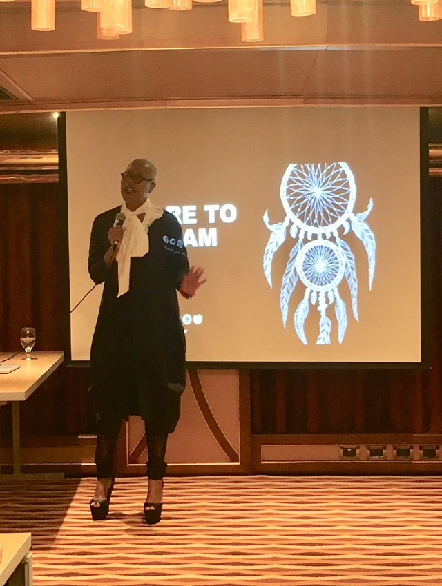<p>Maisie Dunbar challenges cruise attendees to have the courage to chase their dreams.</p>