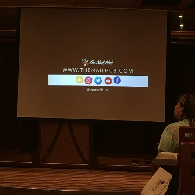 <p>Elizabeth Morris gave attendees solid business advice. Make sure you follow her on The Nail Hub.</p>