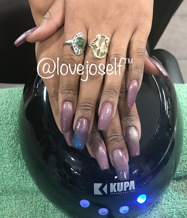 My first client was also a student, and I applied her first set of sculpted nails.
