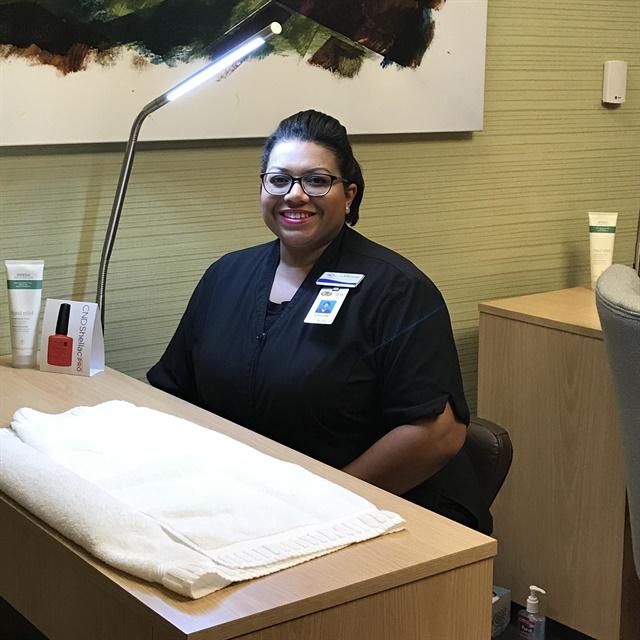 <p>Shaune' Morris-Johnson works at the Rhythm City Casino Resort.</p>
