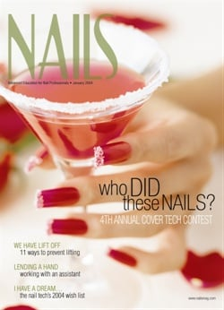 <p>NAILS was the first to start a Reader Cover Tech Contest. Shown here is the winner of the seond annual cover contest (January 2004).</p>