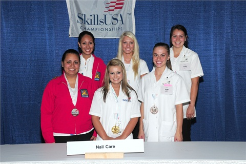 <p>High school students can compete as well, if their school offers nail care training. Here are the high school winners for 2012.</p>