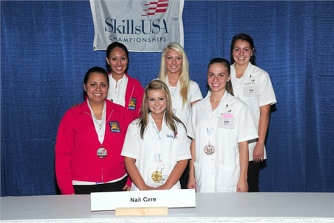 High school students can compete as well, if their school offers nail care training. Here are the high school winners for 2012.