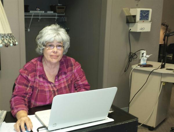 Sandra Taylor at work.