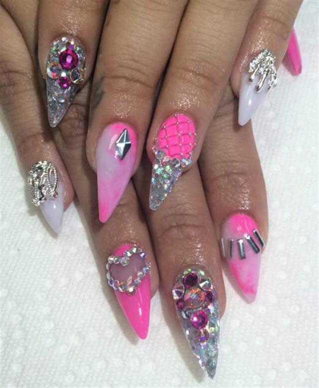 Day 122: Smokey & Pink Nail Art - - NAILS Magazine