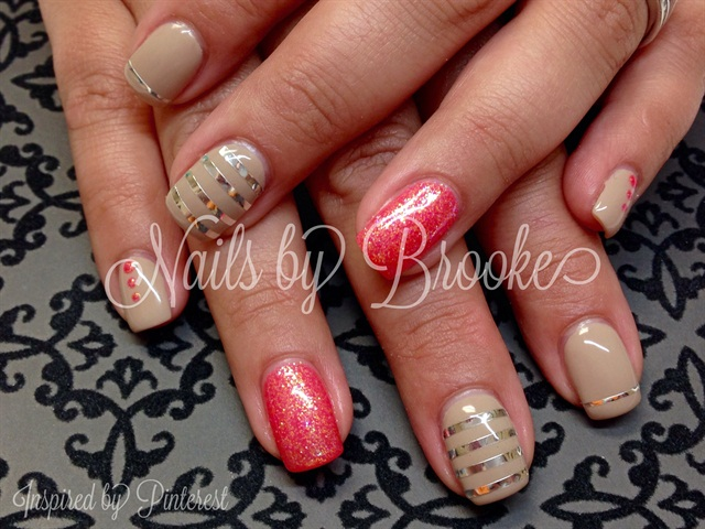 Day 10 marble floral nude nail art nails magazine prinsesfo Choice Image