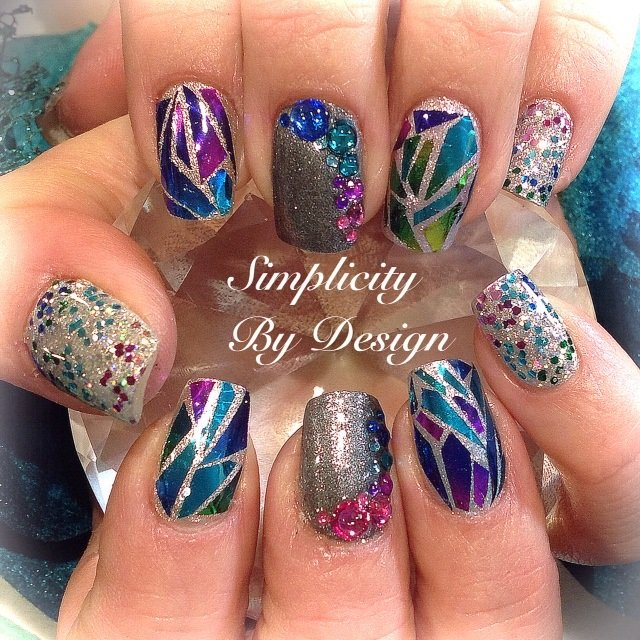Day 101 shattered glass nail art nails magazine prinsesfo Choice Image