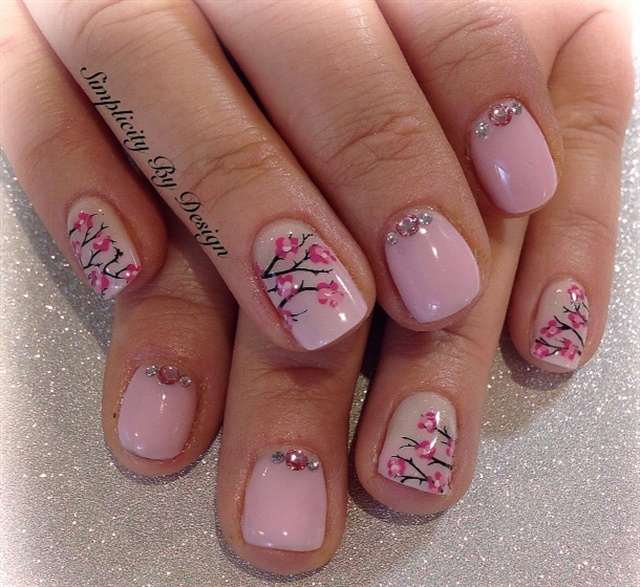 Day 134: Pink Spring Nail Art