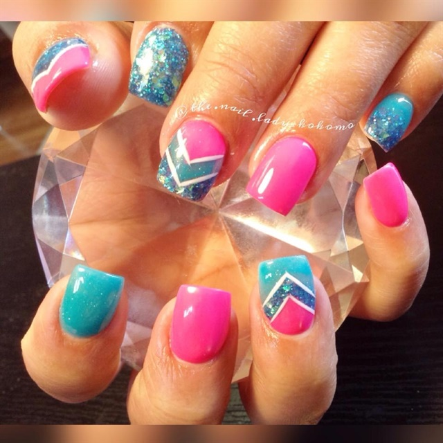 Day 139: Tips of All Colors Nail Art - - NAILS Magazine