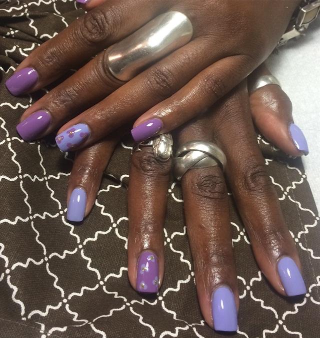 Day 23: Linear & Lavender Nail Art - - NAILS Magazine