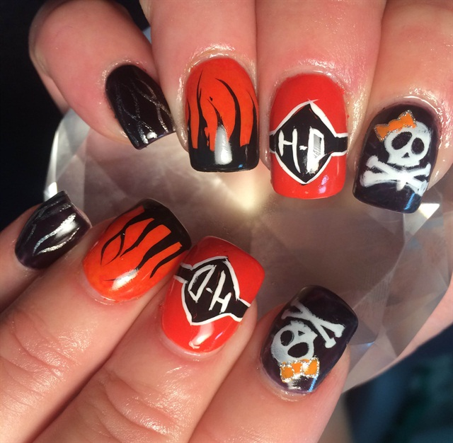 Joan Yeager, Medforn, Wisc. - Day 25: Harley Davidson Nail Art - - NAILS Magazine