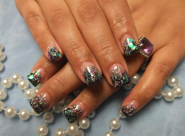 Day 40 Mardi Gras Nail Art Nails Magazine