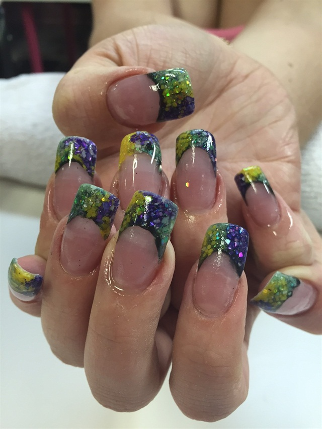 Day 40: Mardi Gras Nail Art - - NAILS Magazine