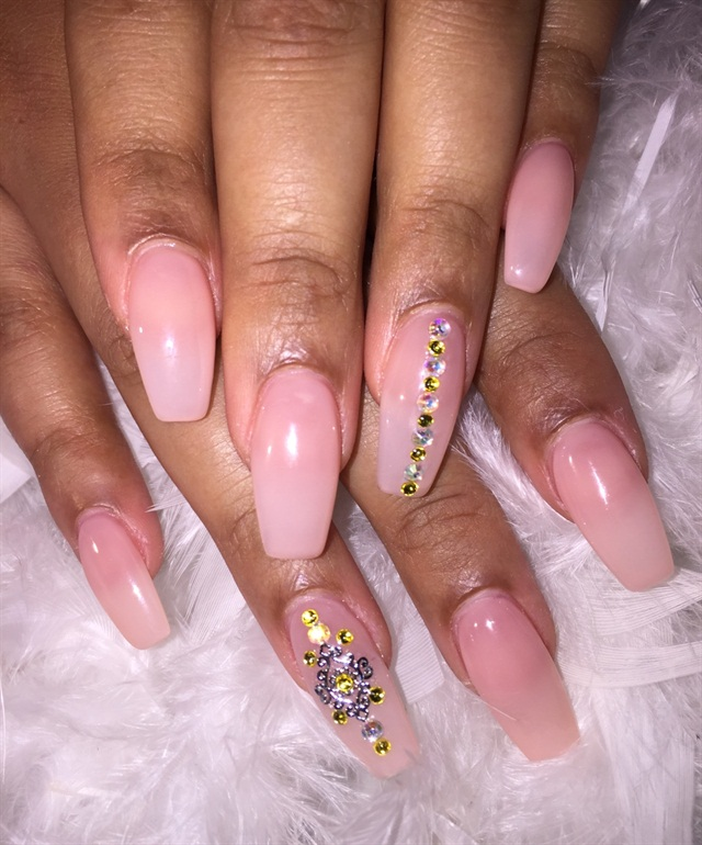 Day 43: Nudes With Splash of Color Nail Art - - NAILS Magazine