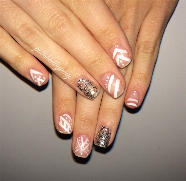 Day 55 Negative Space With Glitter Nail Art Nails Magazine