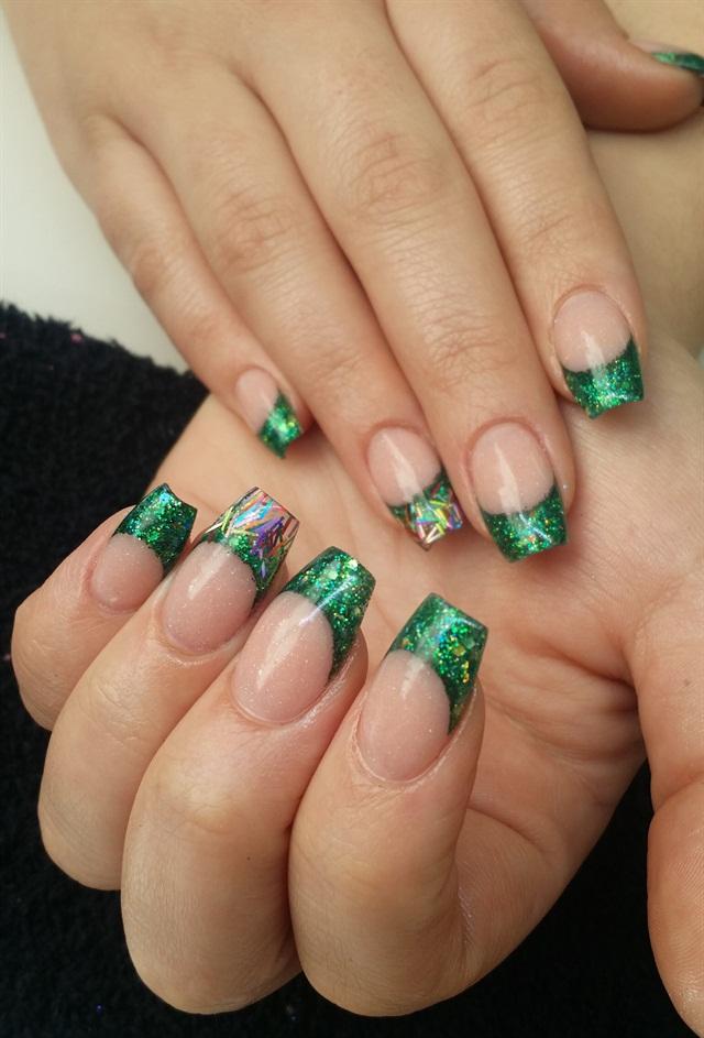 Day 63: Green Party Nail Art - - NAILS Magazine