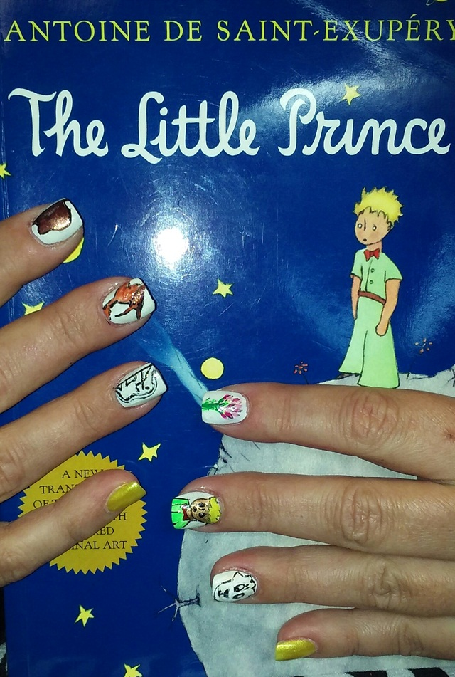 Day 70: The Little Prince Nail Art - - NAILS Magazine