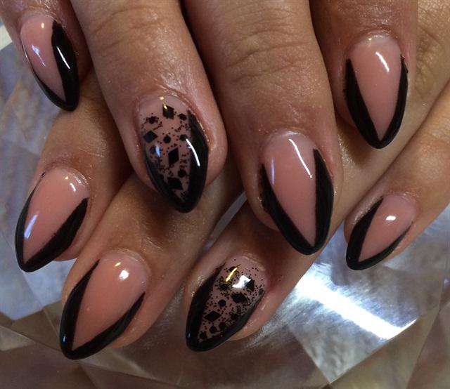 Day 73 Black French Nail Art Nails Magazine
