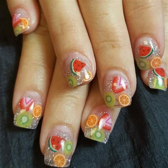 - Day 81: Juicy Fruit Nail Art - - NAILS Magazine