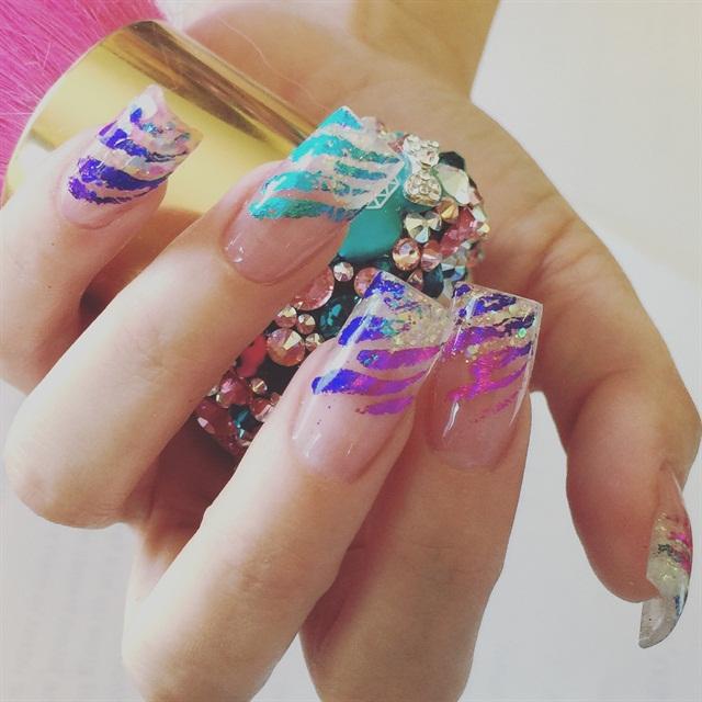 Day 82 Wild Stripe Nail Art Nails Magazine