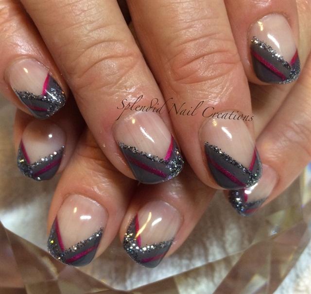 Q Riouser Q Riouser Nail Art: Day 90: Fine Glitter Nail Art