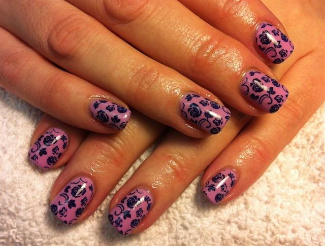 Day 120: Pink & Green Patterned Nail Art - - NAILS Magazine