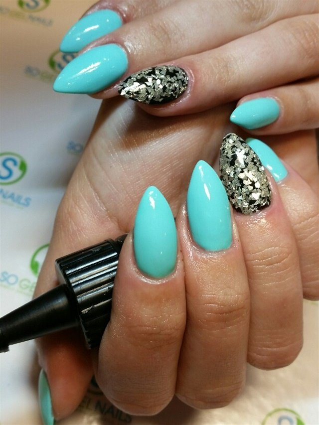 Celeste Tonra, Clarity, Brielle, N.J. - Day 148: Teal & Silver Nail Art - - NAILS Magazine