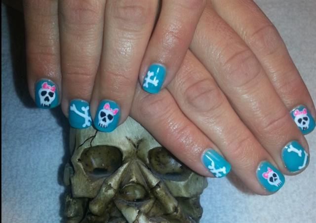 Day 173 Girly Skull Nail Art Nails Magazine
