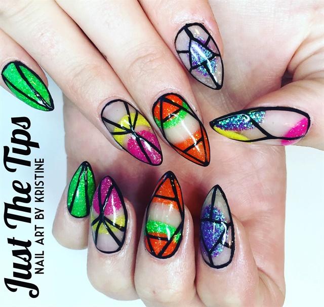 Day 184: Bright Colors & Bling Nail Art - - NAILS Magazine