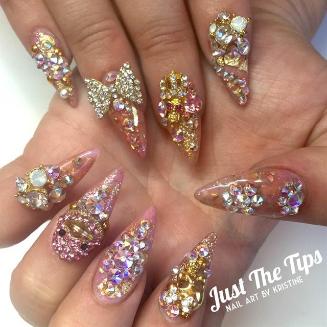 Day 184 Bright Colors Bling Nail Art Nails Magazine