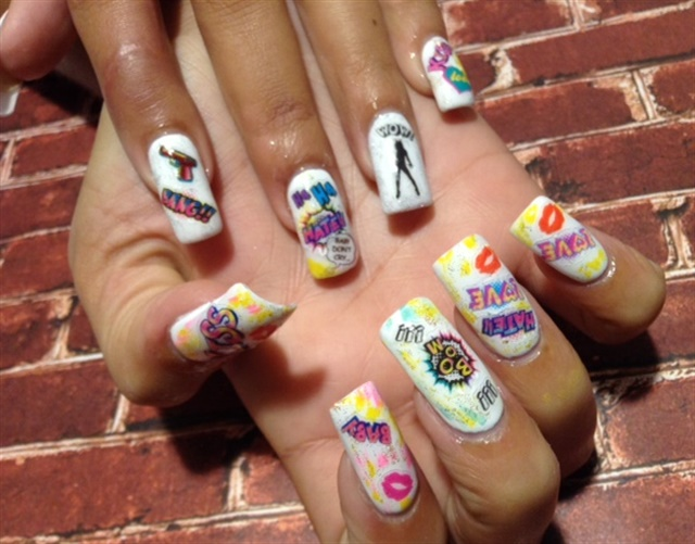 Day 204 Comic Con Nail Art Nails Magazine