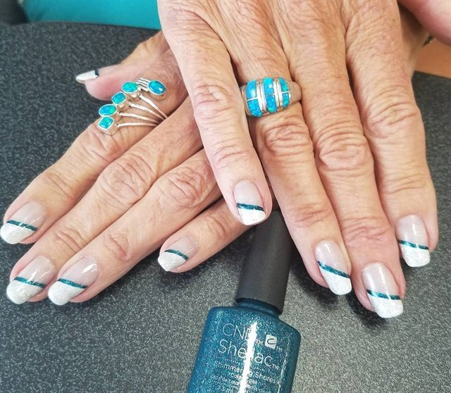 Day 205 stripes spots nail art nails magazine prinsesfo Image collections