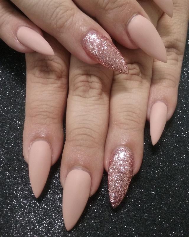 Day 222 Rose Gold Matte Nail Art Nails Magazine