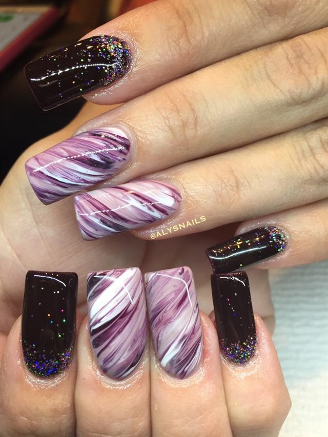 Day 252 Merlot Marble Nail Art Nails Magazine
