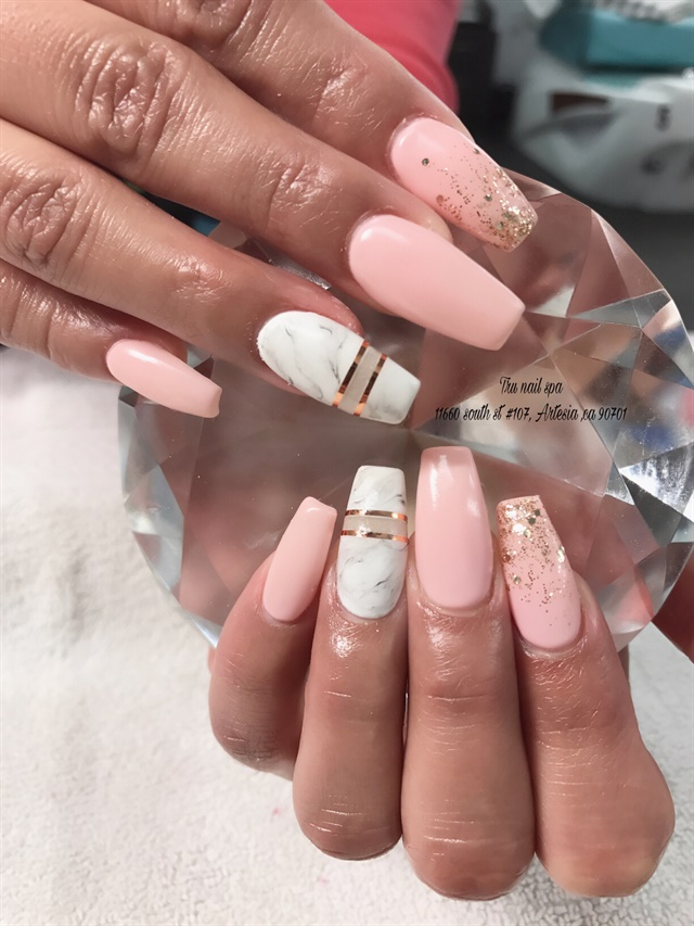 Day 255: Nude & Marble Nail Art - - NAILS Magazine