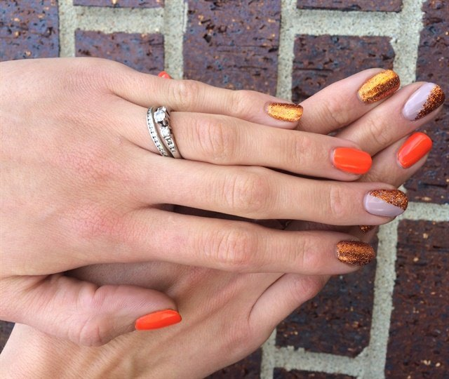 Day 265 fall colorblock nail art nails magazine maddie williams village hair and spa sioux falls sd prinsesfo Image collections