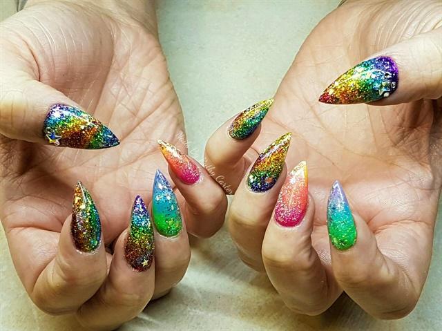 Day 272 rainbow gem nail art nails magazine ruthy carter giddy up nails ryley alberta canada prinsesfo Gallery