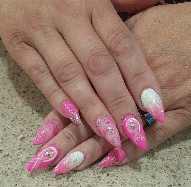 Caitlin Conroy Star Nails Warren Ohio Keywords T Cancer Awareness
