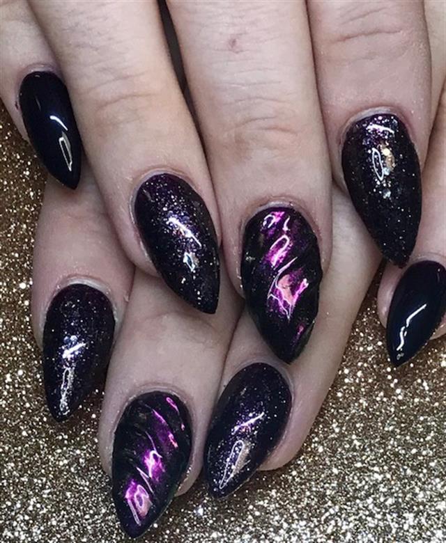 Day 291 dark unicorn nail art nails magazine prinsesfo Image collections