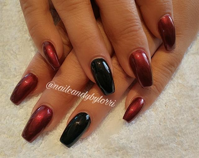 Day 299: Black & Red Chrome Nail Art - - NAILS Magazine