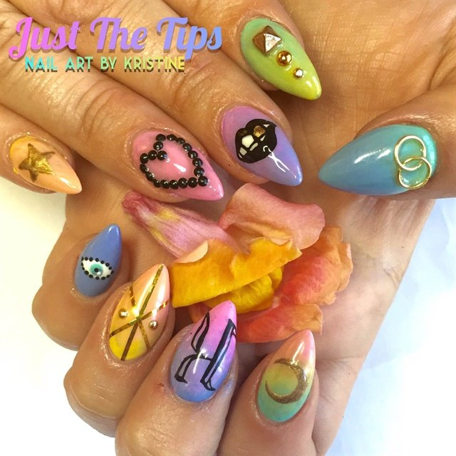 Day 30 Trippy Ombre Nail Art Nails Magazine