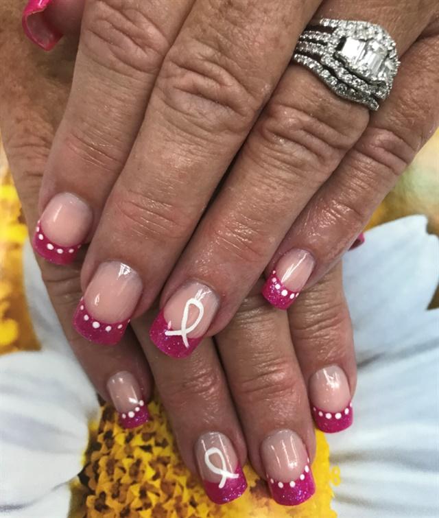 Day 301 Pink Ribbon Nail Art Nails Magazine