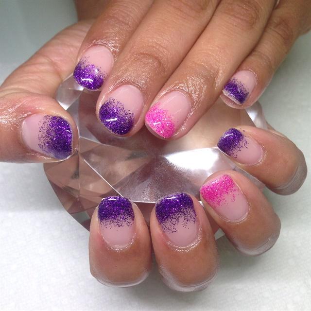 Day 313: Glitter Fade Nail Art - - NAILS Magazine