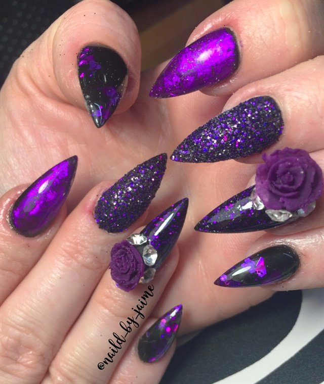 Day 316: Purple and Teal Nail Art - - NAILS Magazine