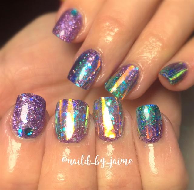 Q Riouser Q Riouser Nail Art: Day 316: Purple And Teal Nail Art
