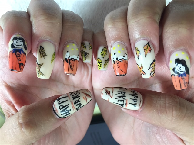 Day 327 Turkey Day Nail Art Nails Magazine