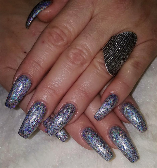 Day 329: Holo & Baby Boomer Nail Art - - NAILS Magazine